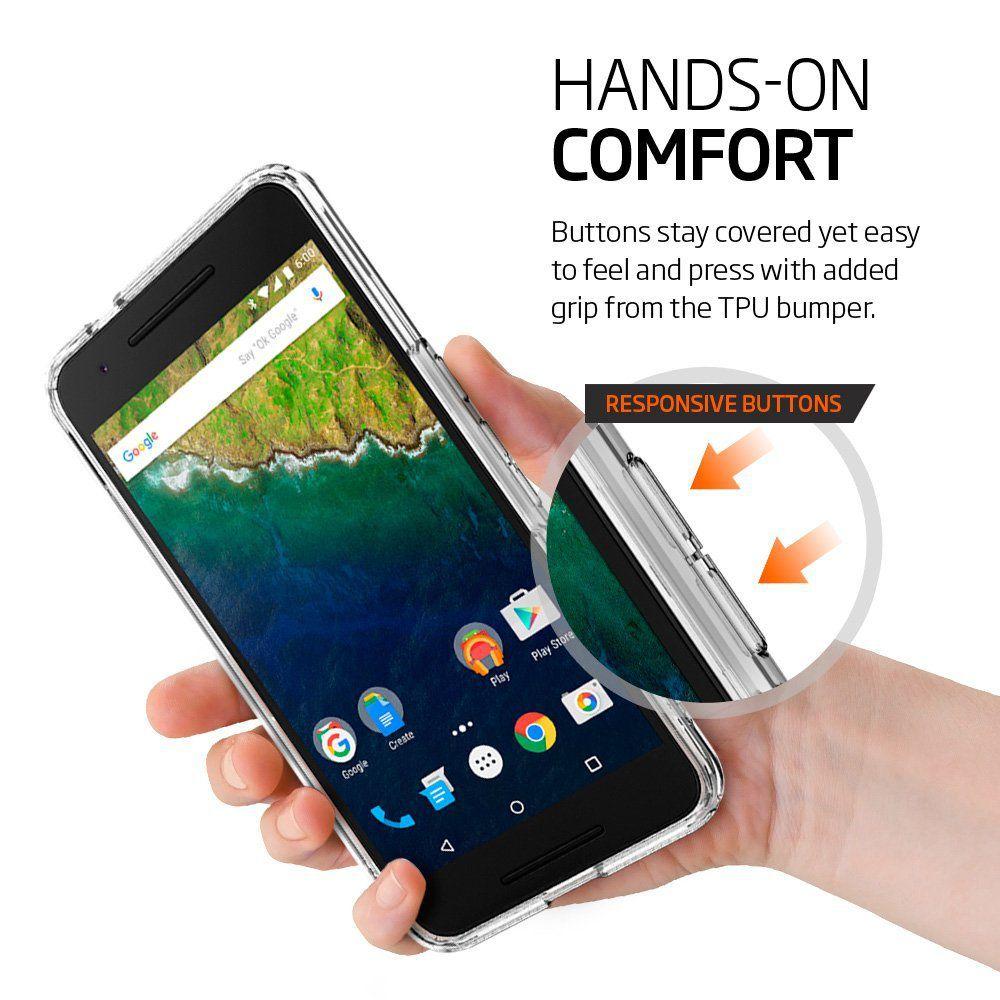 reputable site 5f90d 2eac1 Spigen Nexus 6P Back Case Ultra Hybrid (Crystal Clear) - Plain Back ...