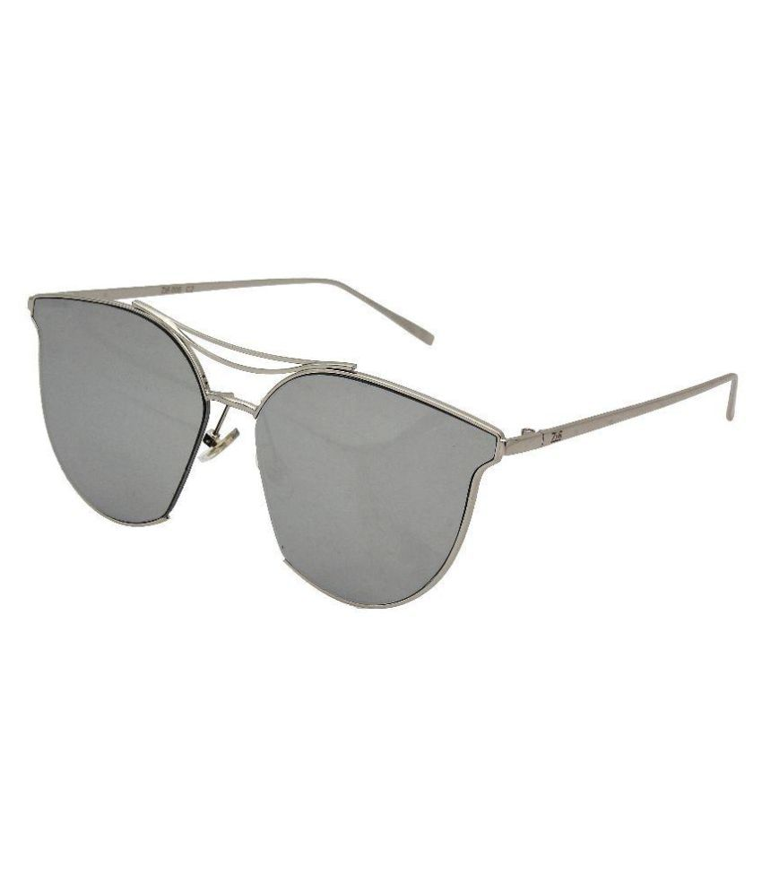 23a77ee8f3 Zins Silver Cat Eye Sunglasses ( ZS 006 C2 ) - Buy Zins Silver Cat Eye  Sunglasses ( ZS 006 C2 ) Online at Low Price - Snapdeal