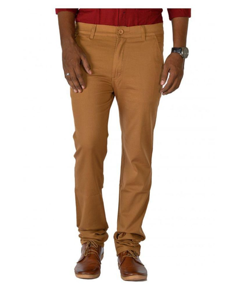 Jugend Brown Slim Flat Trouser
