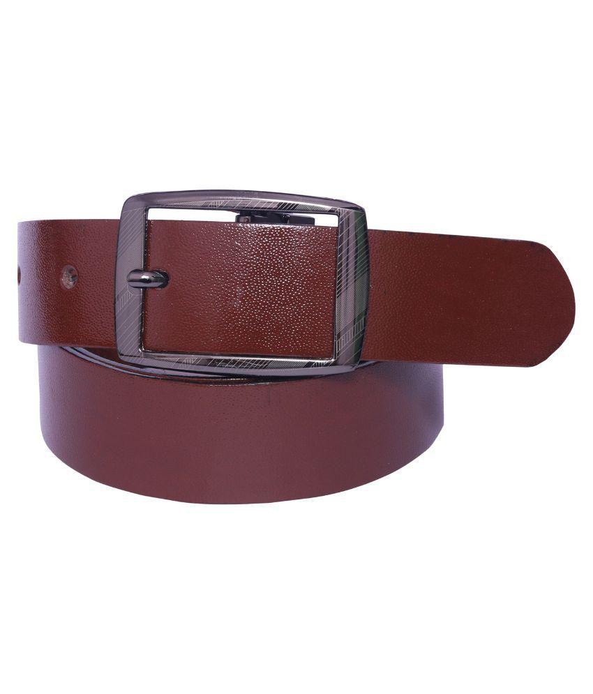 Coovs Brown Leather Formal Belts