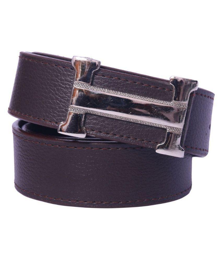 Coovs Brown PU Casual Belts