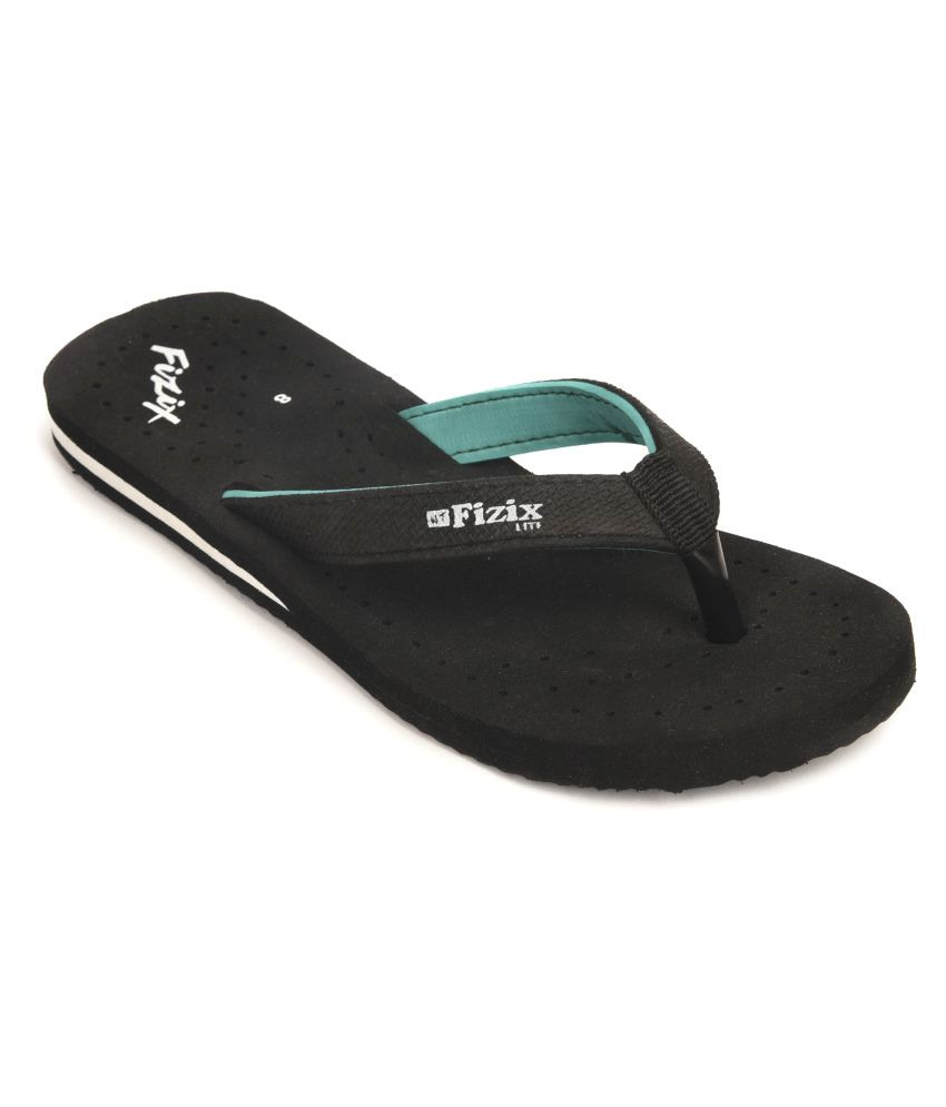 Frestol Black Slippers