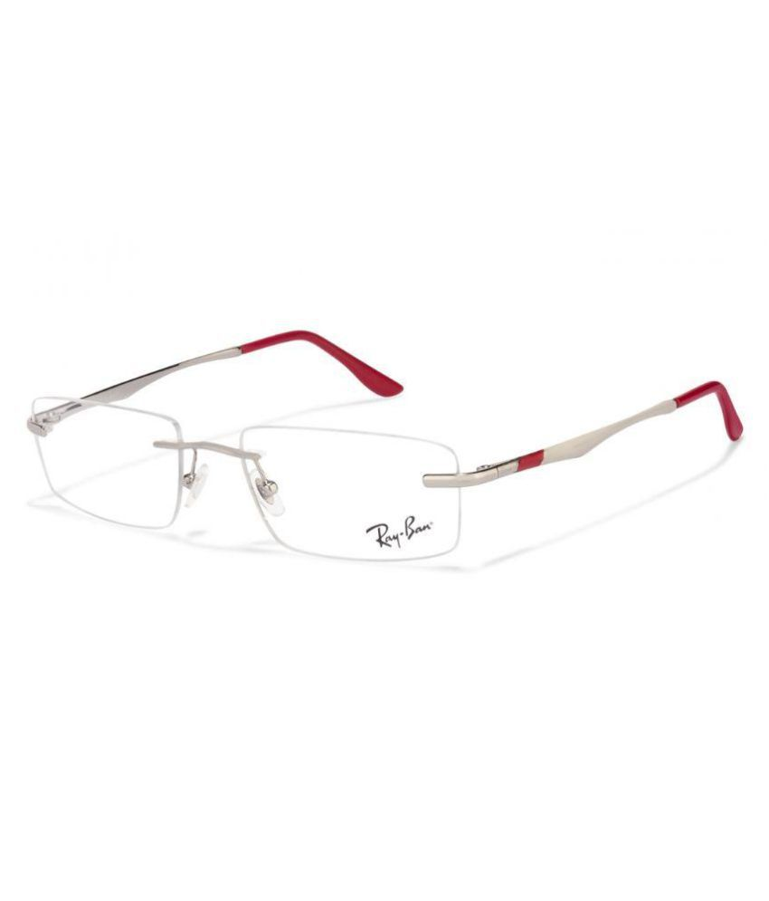 185c7a504d493 Ray-Ban Silver Rectangle Spectacle Frame RX 6266 2501 53 - Buy Ray-Ban  Silver Rectangle Spectacle Frame RX 6266 2501 53 Online at Low Price -  Snapdeal
