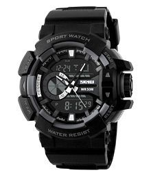 Skmei Black Analog-Digital Sports Watch for Men