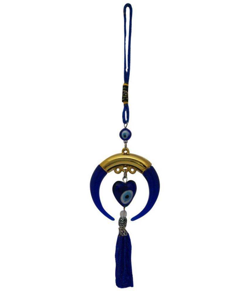 Aaradhi Divya Mantra Evil Eye Protection Hanging Wall Sculpture Blue