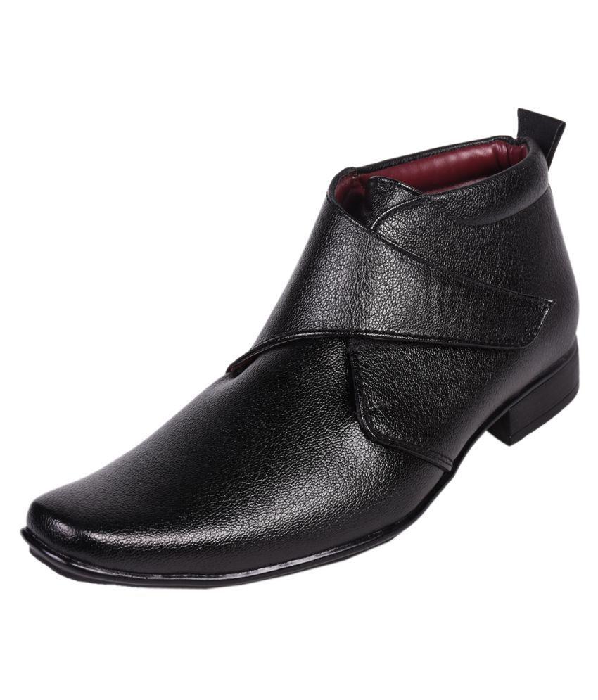 Affican Black Formal Boot