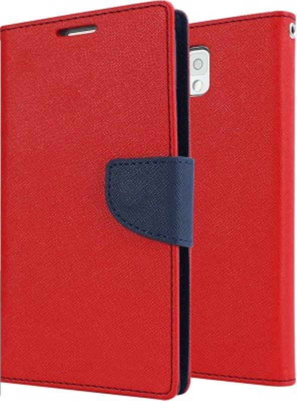 huge discount b865d c4744 Samsung Galaxy On7 Pro Flip Cover by OM - Red