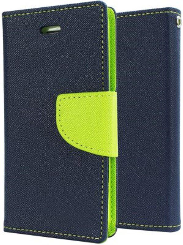 save off 1b928 f613e Samsung Galaxy On7 Pro Flip Cover by OM - Blue