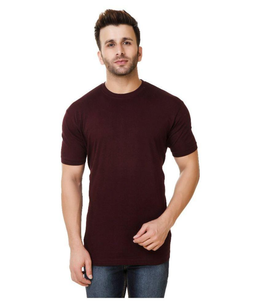 Austin-M Maroon Round T-Shirt Pack of 3