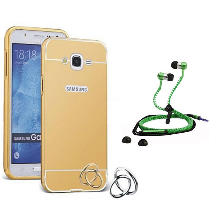 Mirror Back Cover For Samsung Galaxy E7 + Zipper earphone free by Style Crome.