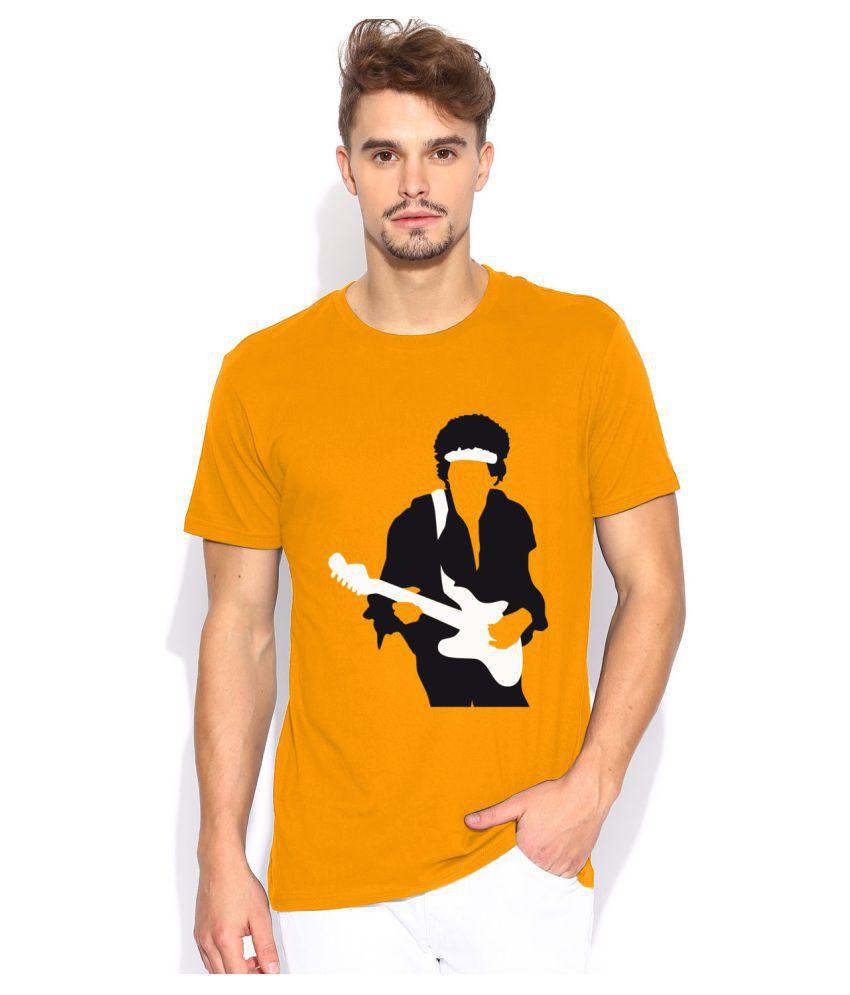 Artywear Orange Round T-Shirt