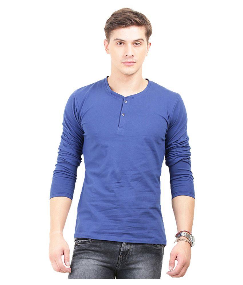 THISRUPT Blue Henley T-Shirt