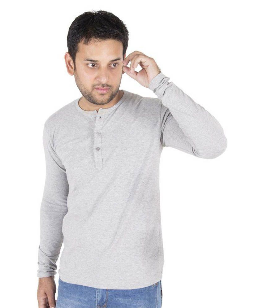 Druthers Grey Henley T-Shirt