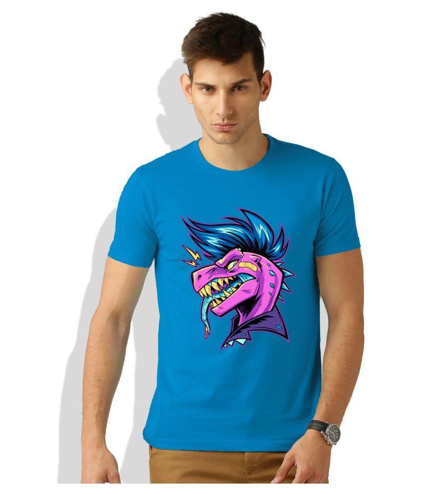 Artywear Blue Round T-Shirt