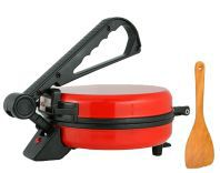 Matangi Red Colour Stainless Steel Roti Maker With Spatula