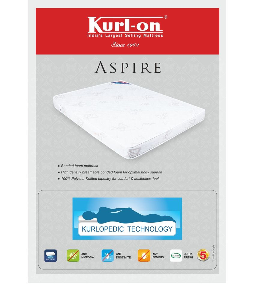 kurlon aspire foam 5 inches mattress king buy kurlon aspire foam