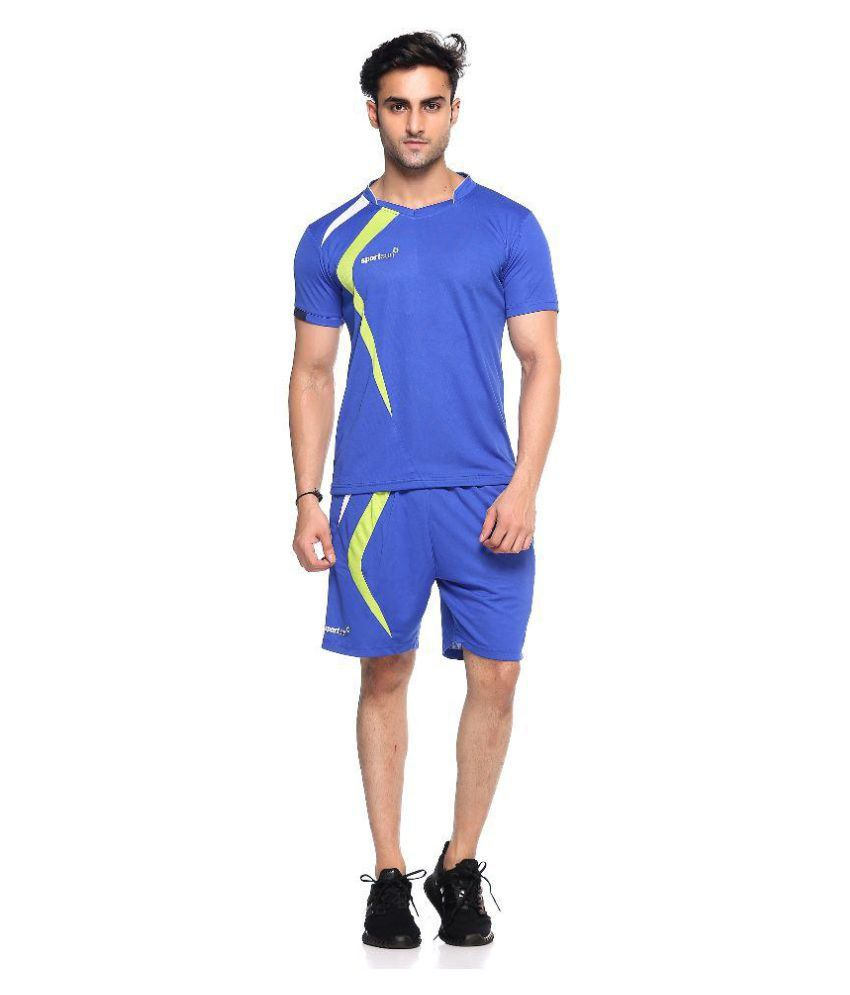 Sport Sun Blue Polyester T-shirt with Shorts