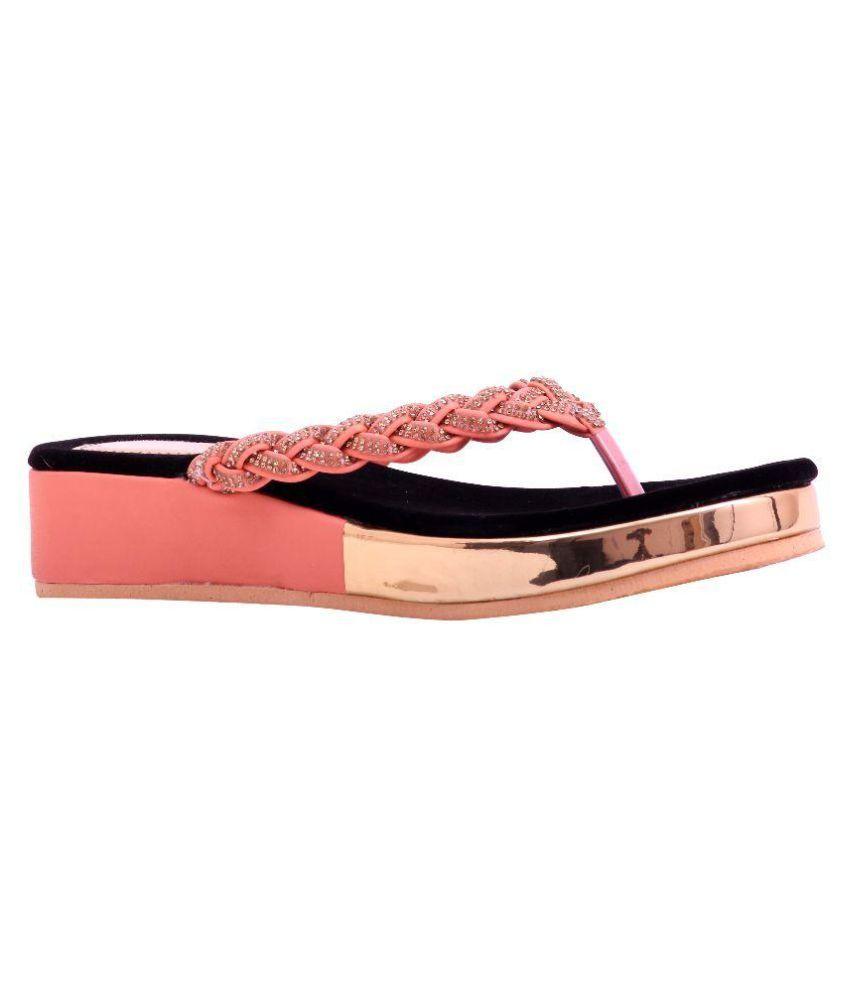 Renuka Pink Slippers