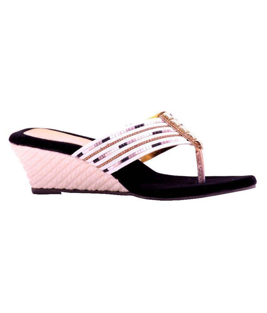 Renuka Multi Color Wedges Heels