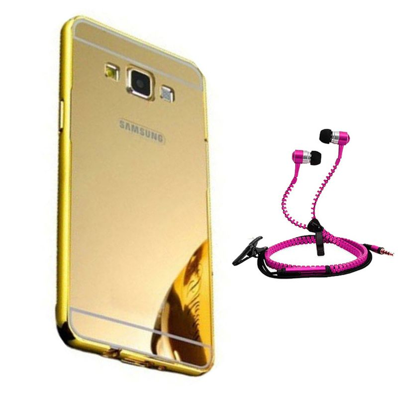 Mirror Back Cover For Samsung Galaxy S4 + Zipper earphone free by Style Crome.
