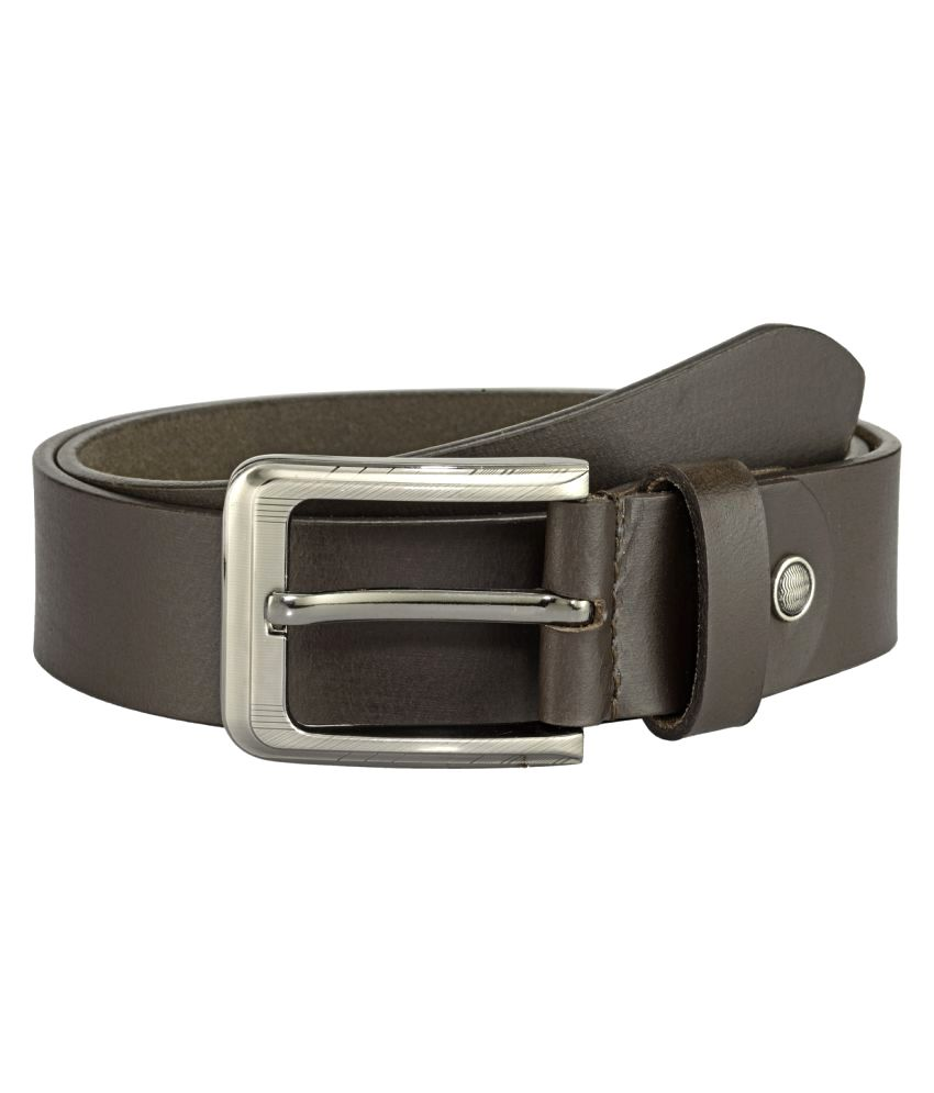 Teakwood Brown Leather Casual Belts