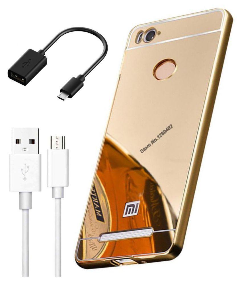 Casing Xiaomi Redmi 3s Bumper Mirror Gold Daftar Harga 3 In 1 Combo Of Golden Aluminum Metal Pc Back Case Cover For