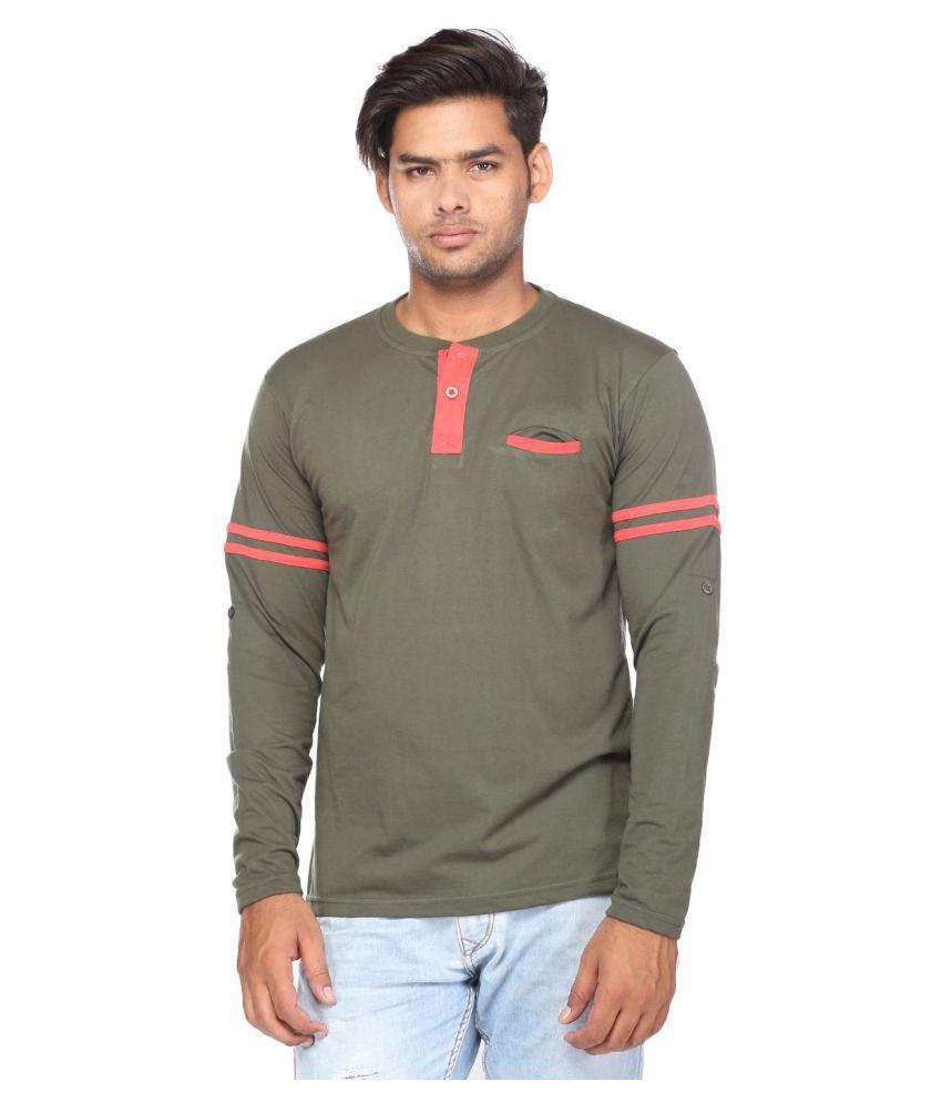 Viveza Green Henley T-Shirt