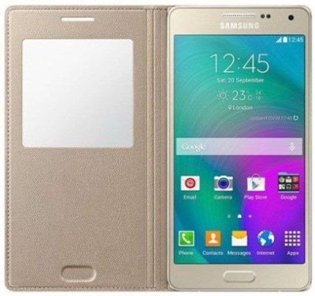 new product 440b7 5e9de Samsung Galaxy On5 Pro Flip Cover by OM - Golden