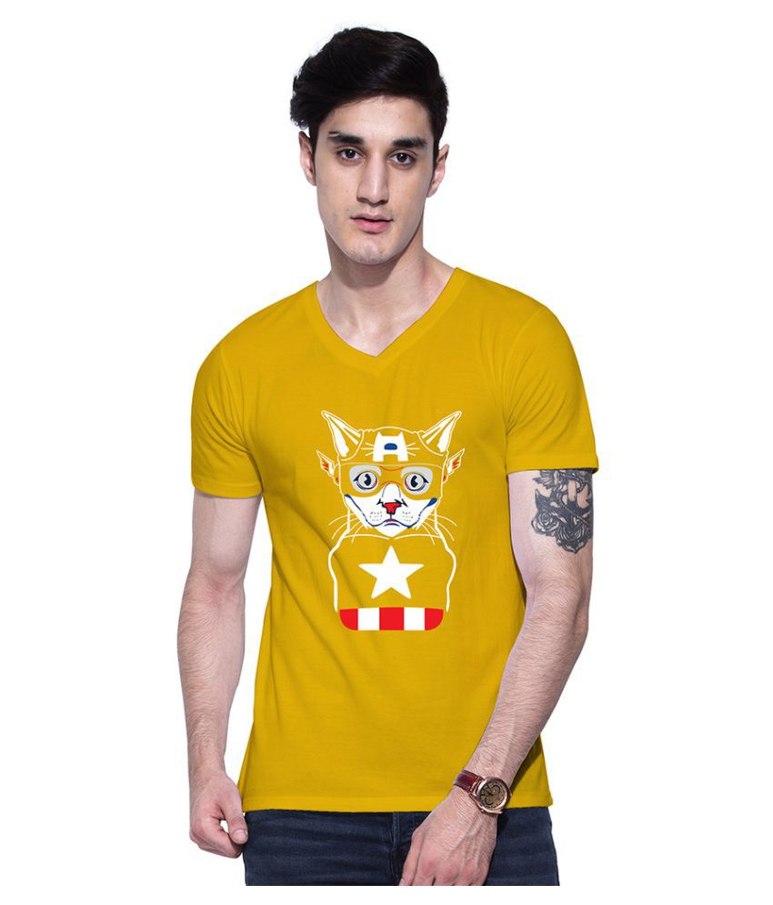 Uptown 18 Yellow V-Neck T-Shirt