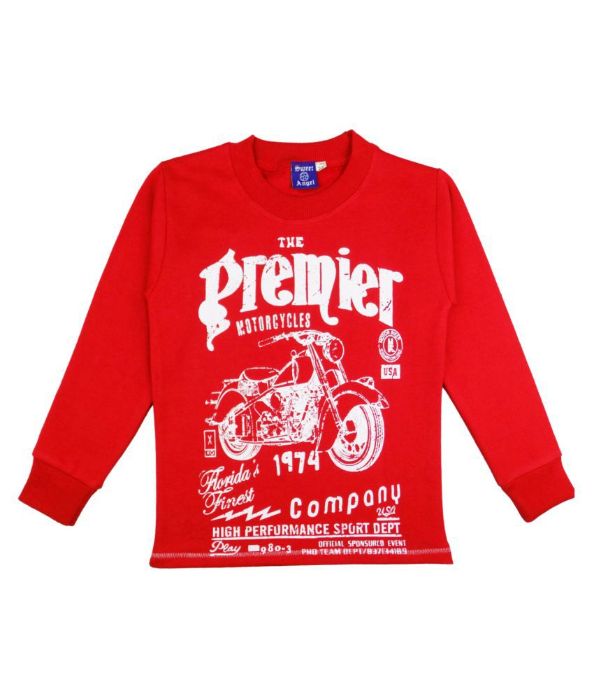 Sweet Angel Red Fleece Sweatshirt