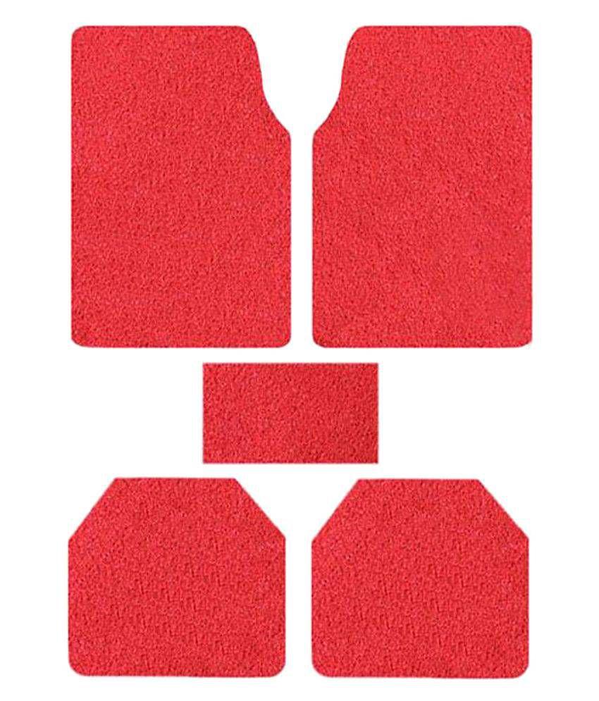 True Vision Red Car Floor Mat - Set of 5