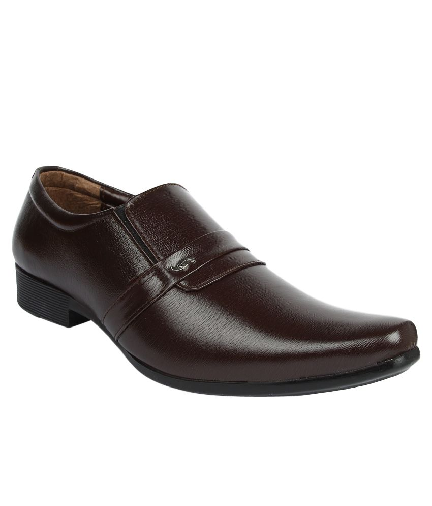 series pswz706 brown formal shoes price in india buy