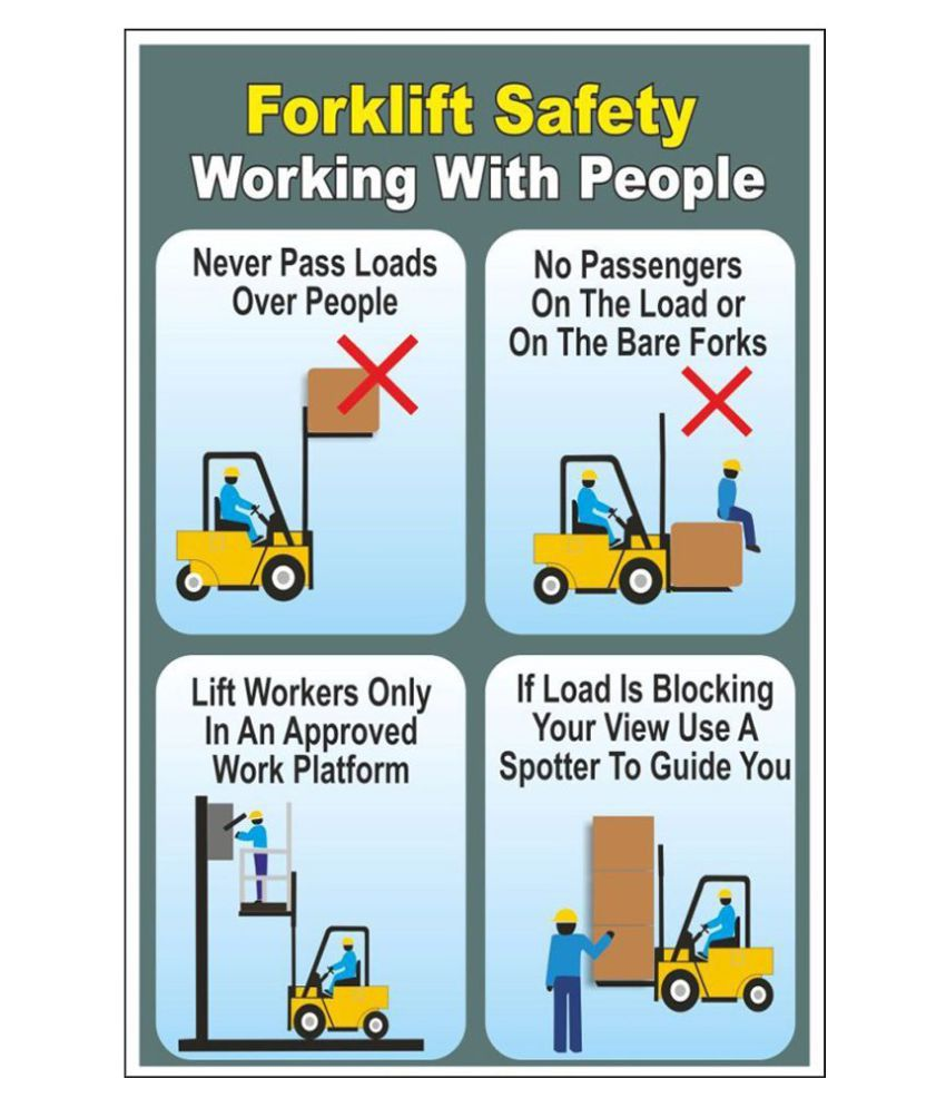 SignageShop Forklift Safety Working With People Sign