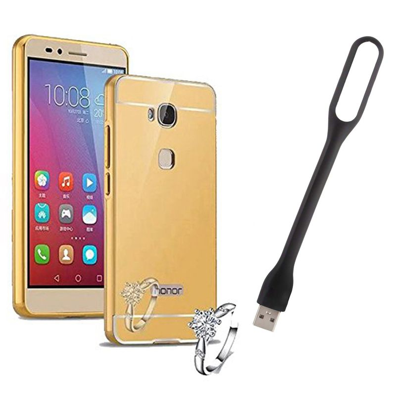 Mirror Back Cover For Huawei Honor 5X + Usb Light free by Style Crome.