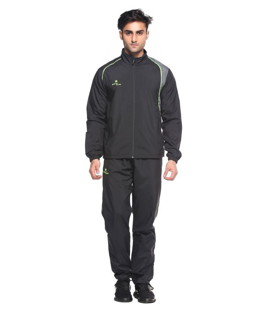 Sport Sun Black Polyster Track Suit