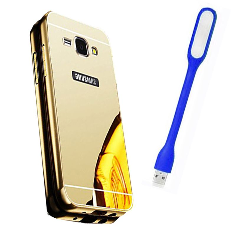 Mirror Back Cover For Samsung Galaxy Grand Prime + Usb Light free by Style Crome.