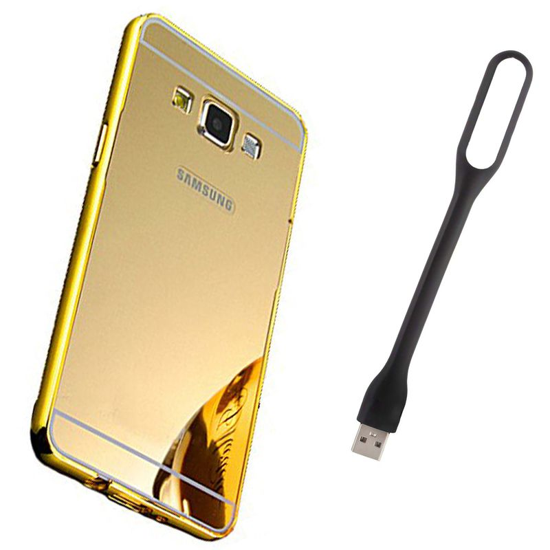 Mirror Back Cover For Samsung Galaxy On5 + Usb Light free by Style Crome.