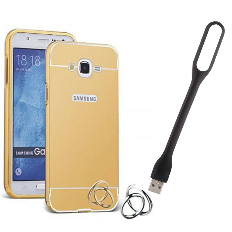 Mirror Back Cover For Samsung Galaxy J1 Ace + Usb Light free by Style Crome.