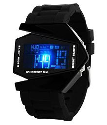 DCMR Enterprise Black PU Analog Watch