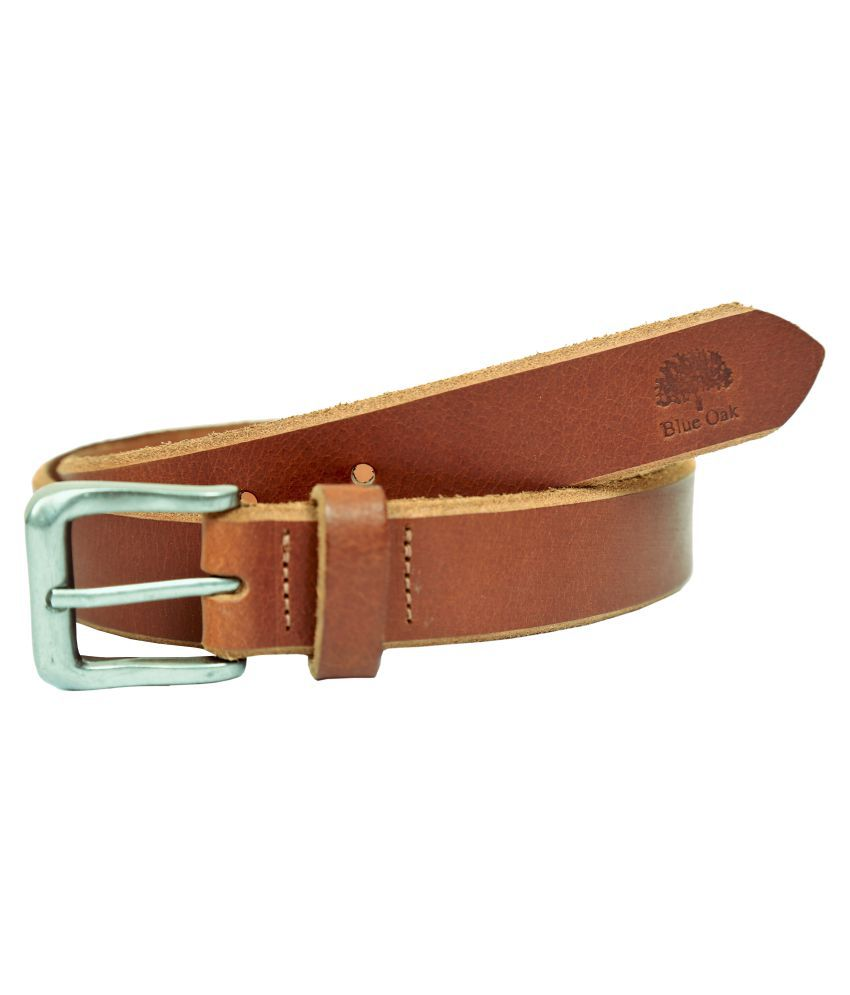 Blue Oak Brown Leather Casual Belts