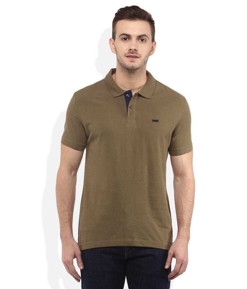 Levis Green Polo Neck T Shirt Buy Levis Green Polo Neck