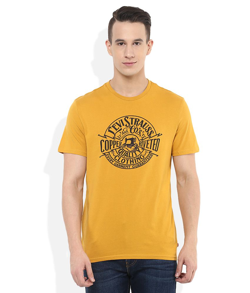 Levis Yellow Round Neck T Shirt