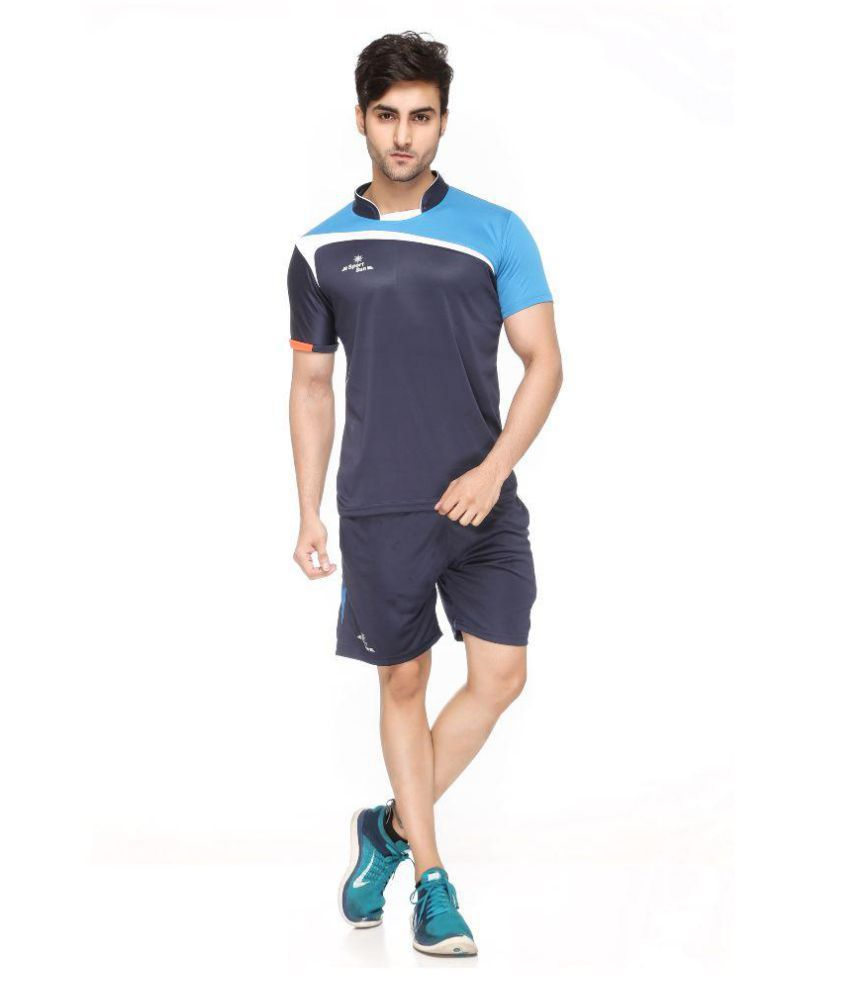 Sport Sun Navy Polyster T-Shirt with Shorts