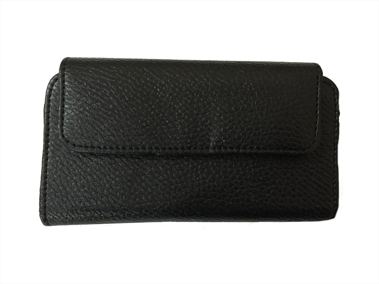 Zocardo Hard Leather Belt Pouch for HTC Desire 728 - Black