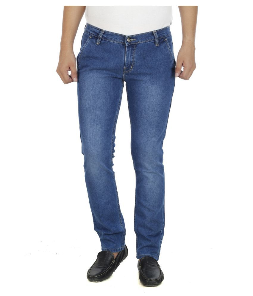 Atlast Blue Slim Washed