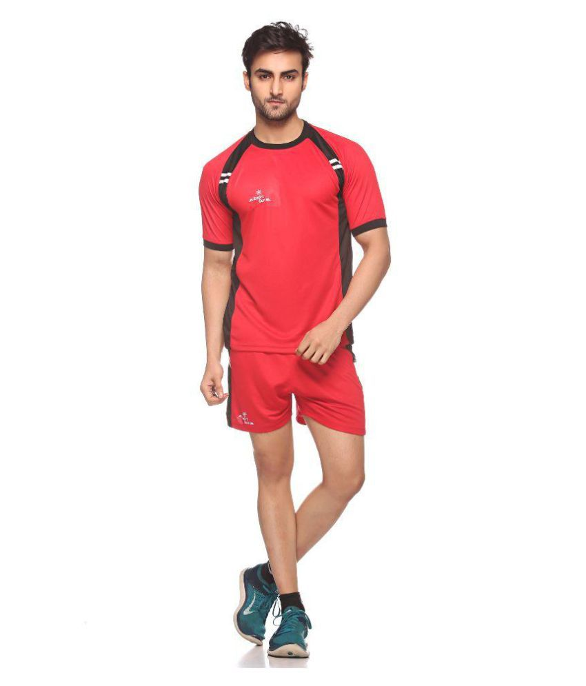Sport Sun Red T Shirt with Shorts