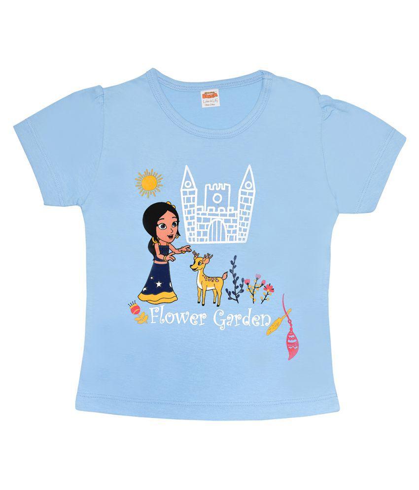 Chhota Bheem Blue Cotton T-shirt