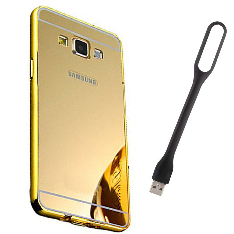 Mirror Back Cover For Samsung Galaxy A5 + Usb Light free by Style Crome.