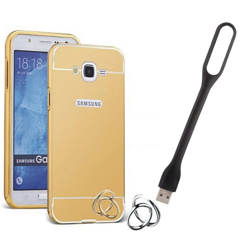 Mirror Back Cover For Samsung Galaxy A8 + Usb Light free by Style Crome.