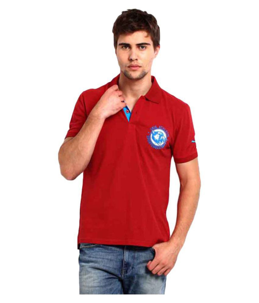 Puma Red Social Pique Polo T Shirt